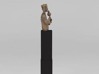 3d景觀人物雕塑模型