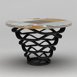 时尚圆桌模型