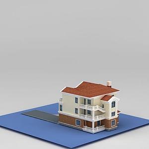 簡歐別墅模型