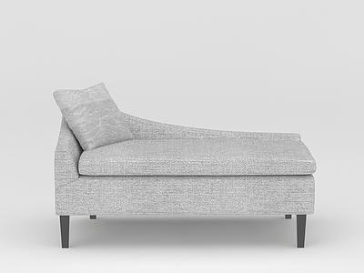 灰色沙發椅模型3d模型