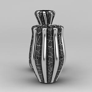 現代花瓶裝飾模型