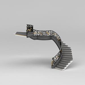別墅樓梯模型