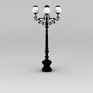 景觀路燈模型