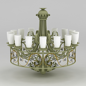 大型欧式吊灯模型