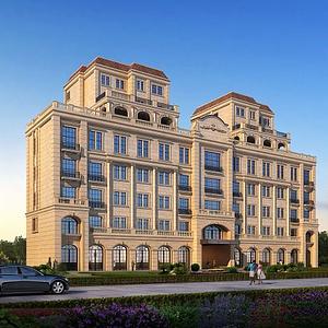 歐式別墅模型