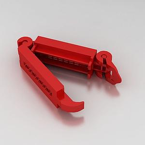 安全座椅的紅色夾模型