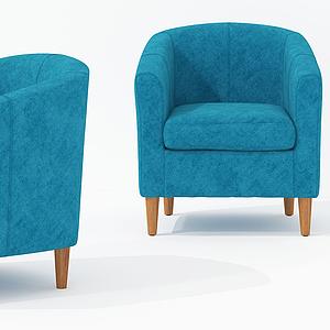 北欧休闲单椅椅模型