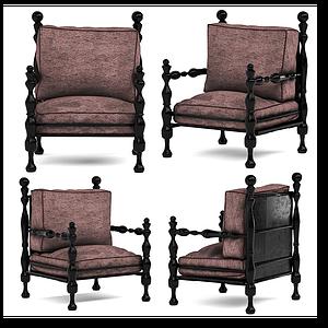 現代霸氣休閑椅模型
