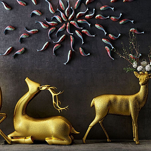 小鹿裝飾品模型