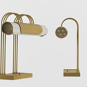 后現代簡約臺燈書桌燈模型