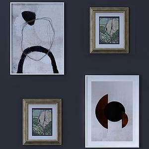 現代室內裝飾畫掛畫模型