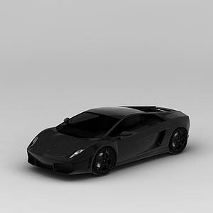 3d黑色<font class='myIsRed'>跑車</font>模型