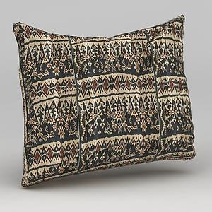 中式沙发靠枕模型