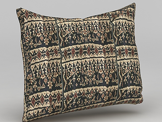 中式沙發靠枕模型