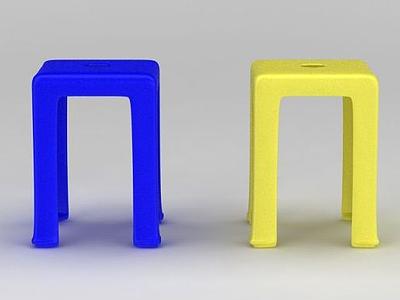 3d塑料凳模型