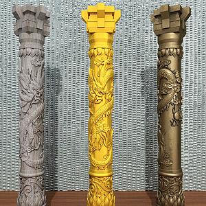 雕花柱頭模型