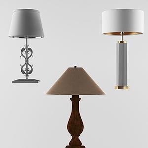 簡歐簡約小臺燈組合模型