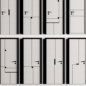 房間門組合模型