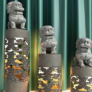 雕像柱子模型