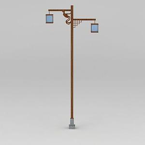 中式路燈模型