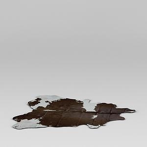 3d仿真動物皮地毯模型
