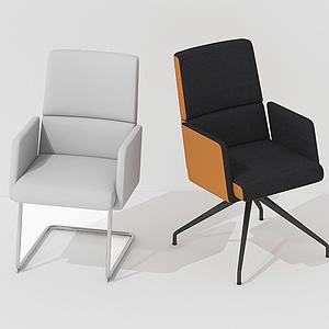 后现代休闲椅室内椅组合模型
