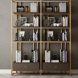 家具飾品組合書架模型