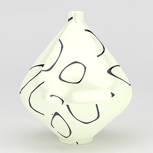 創意花瓶模型