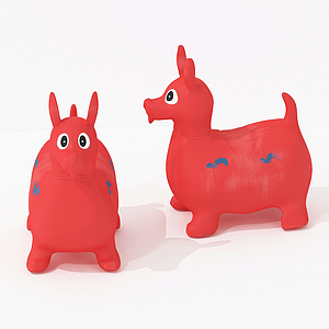 现代儿童玩具小跳马模型