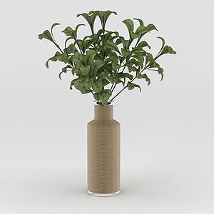 3d室內裝飾仿真綠植模型