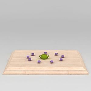 茶具組合模型