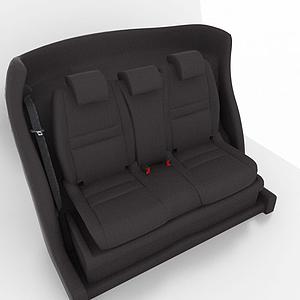 黑色汽車座椅模型