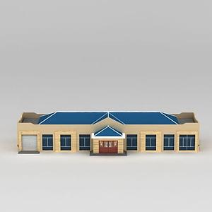3d一層房屋名宅模型