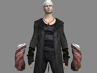 3d游戲角色但丁免費模型