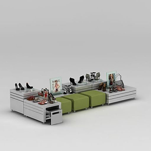 鞋店展示貨柜模型