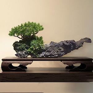 中式木雕摆件模型