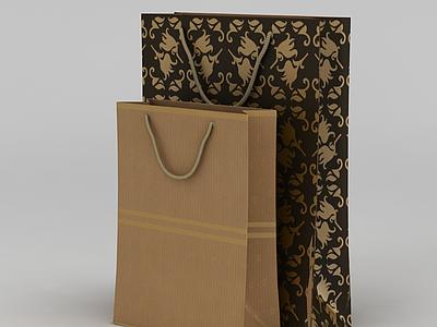 3d包裝紙袋模型