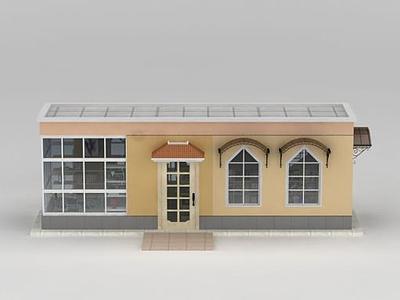 3d創意書屋模型