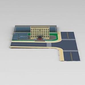 3d中国检疫中心模型
