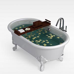 浪漫獨立浴缸模型