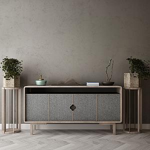 家具飾品組合玄關柜模型