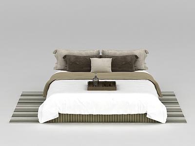 高檔舒適床被寢具模型