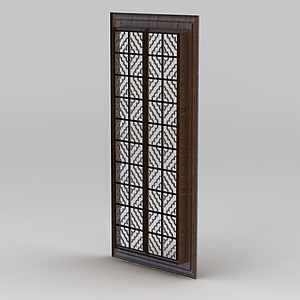 中式雕花窗模型