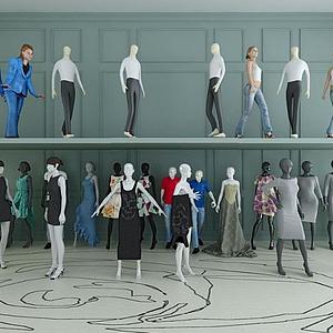 商場服裝模特道具模型