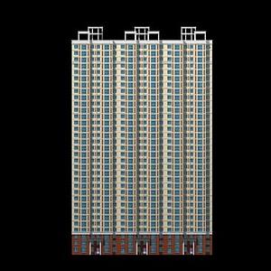 3d高層<font class='myIsRed'>樓房</font>建筑模型