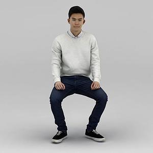 亞洲男人模型