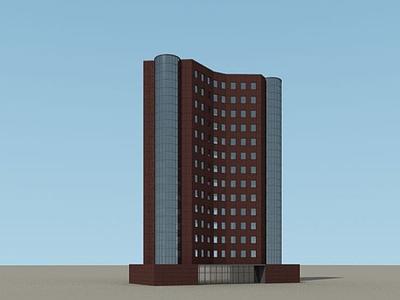 3d現代建筑大樓模型