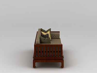 中式沙發床模型3d模型