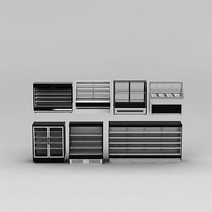超市貨架冰柜模型