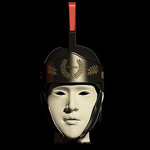 羅馬騎兵指揮官頭盔模型